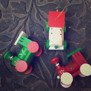 Wooden Train 🚂 Caboose Christmas 🎄 Ornaments